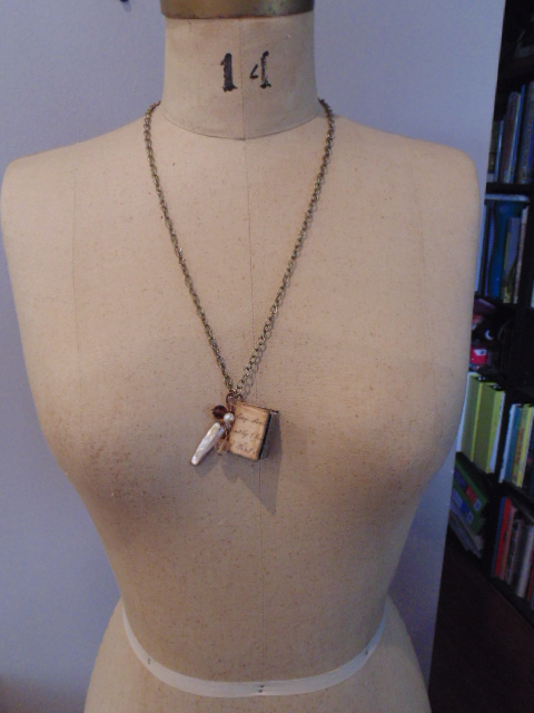 Miniature Book Pendant Necklace